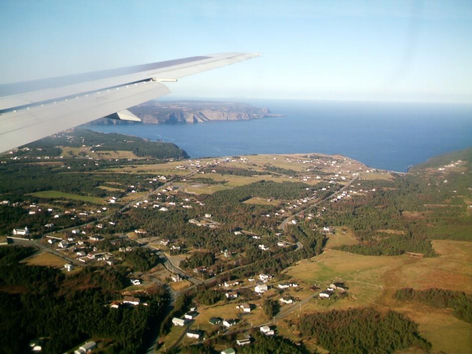 Nova Scotia Canada from a plane
