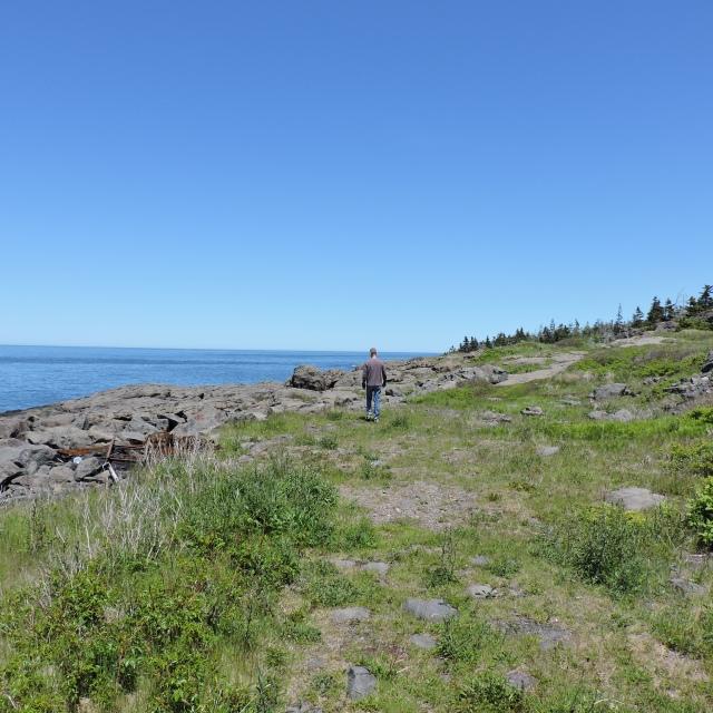 Hiking at Whale Cove, Nova Scotia