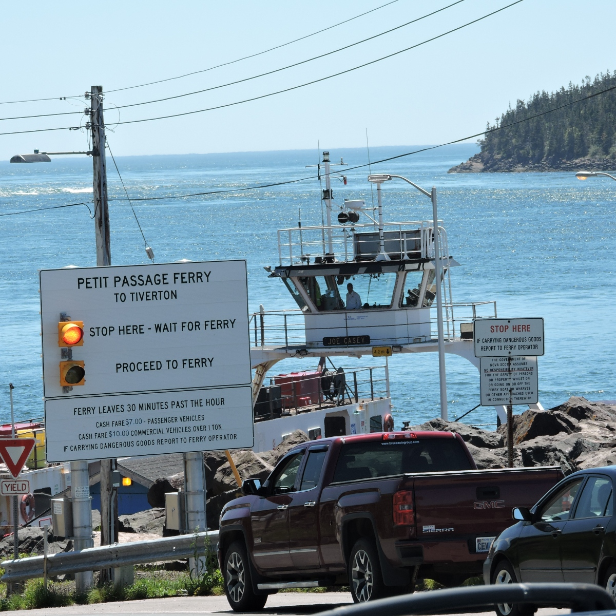 Ferry from Digby Neck to Long Island, Nova Scotia
